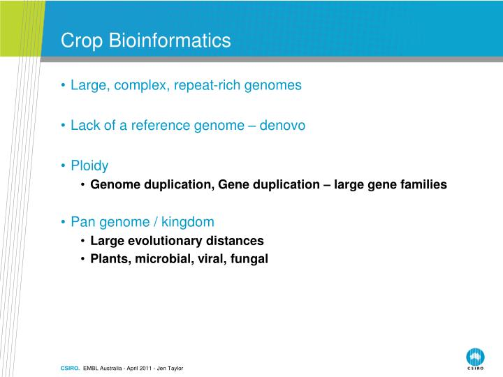 Crop Bioinformatics