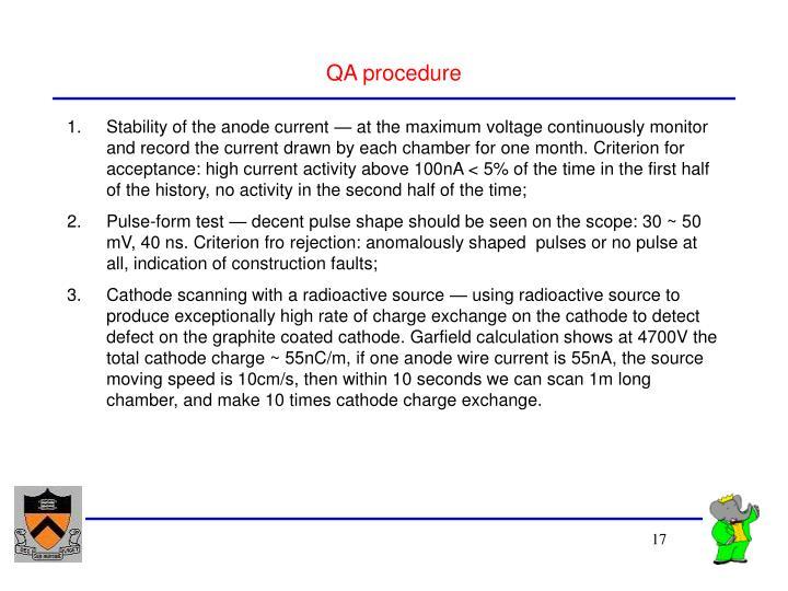 QA procedure