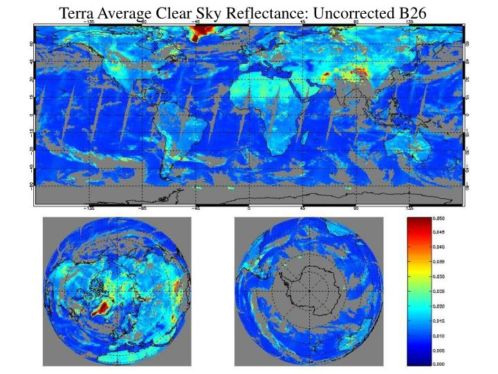 Terra Average Clear Sky Reflectance: Uncorrected B26
