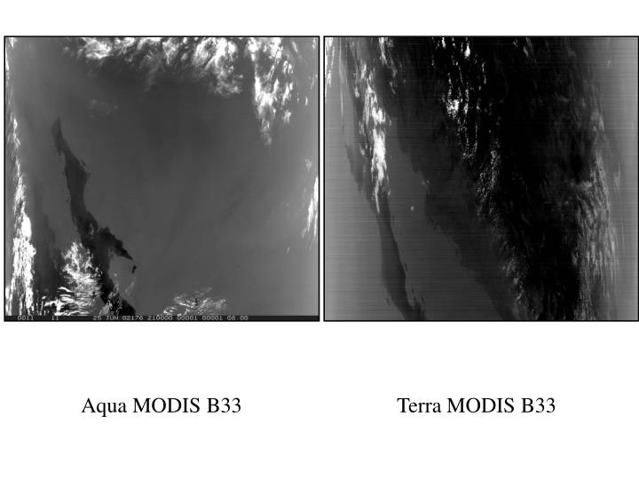 Aqua MODIS B33
