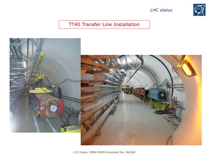 TT40 Transfer Line Installation