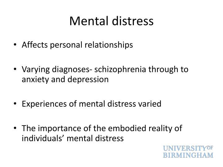 Mental distress
