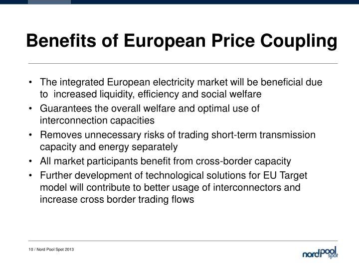 Benefits of European Price Coupling