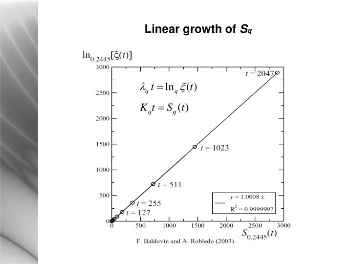 Linear growth of