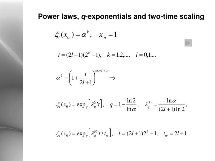 Power laws,