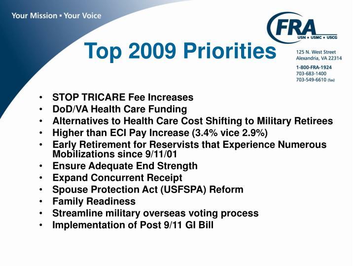 Top 2009 Priorities