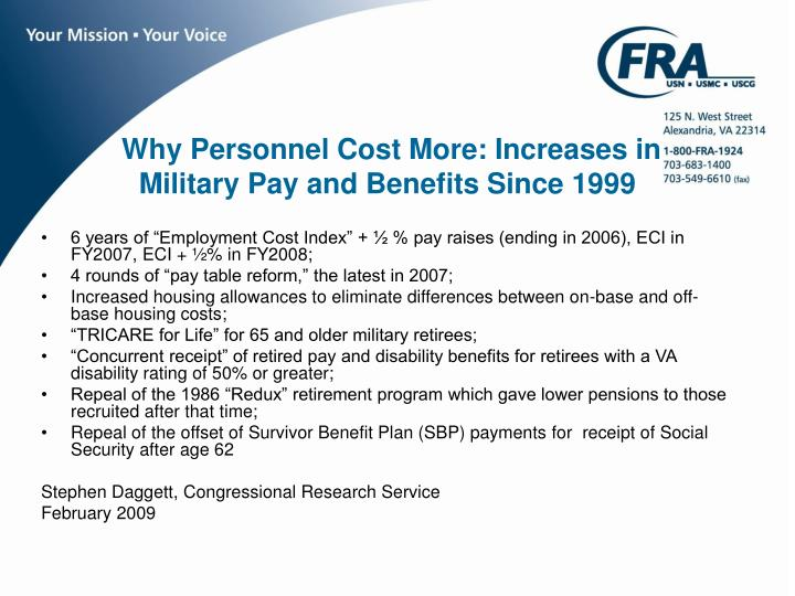 Why Personnel Cost More: Increases in