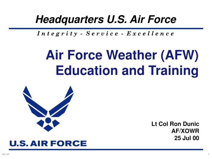 Air Force Weather (AFW)