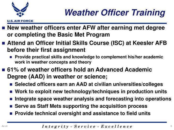 Weather Officer Training