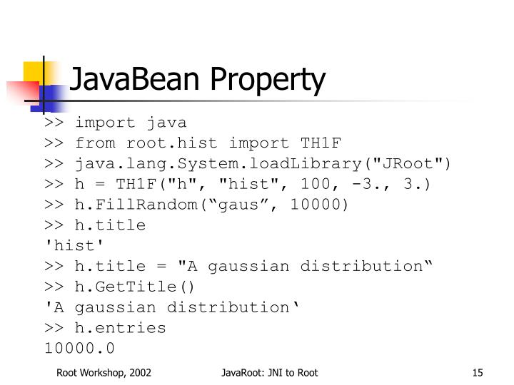 JavaBean Property