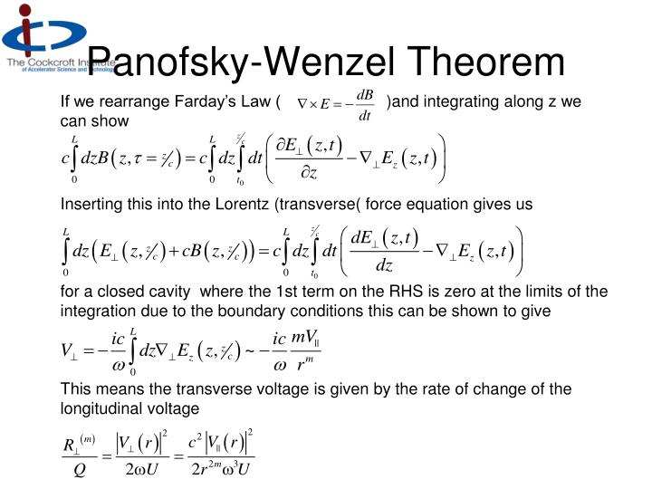 Panofsky-Wenzel Theorem