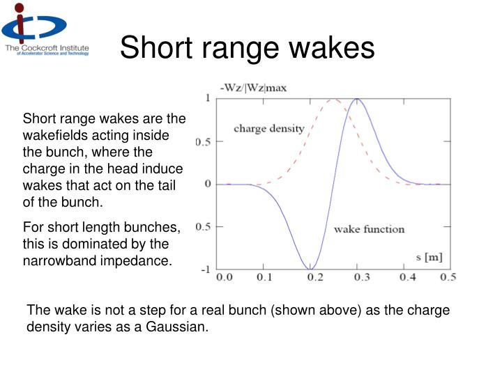 Short range wakes