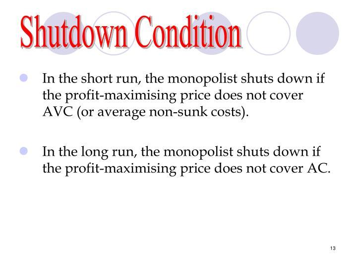 Shutdown Condition