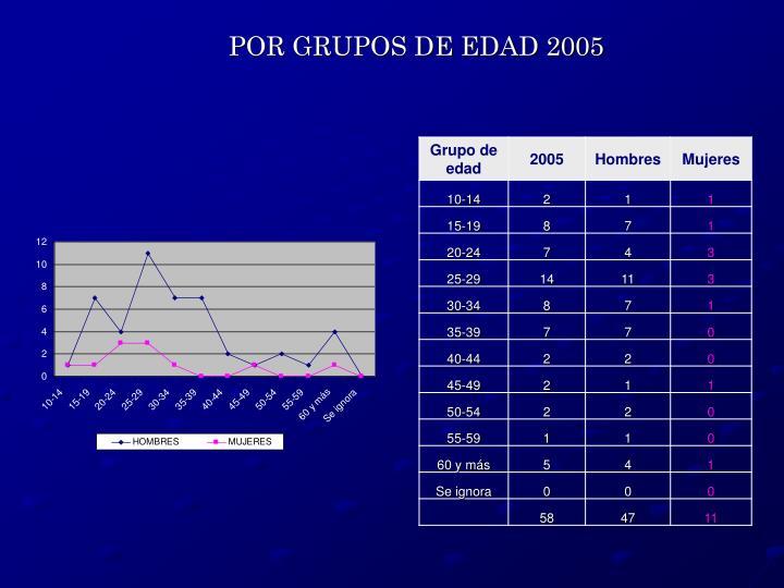 POR GRUPOS DE EDAD 2005