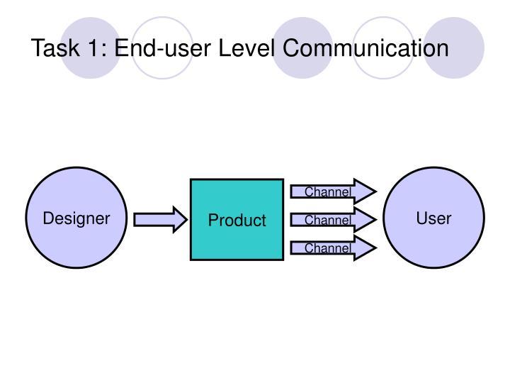Task 1: End-user Level Communication