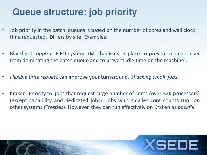 Queue structure: job priority