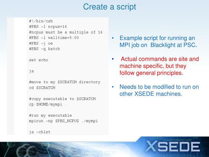 Create a script
