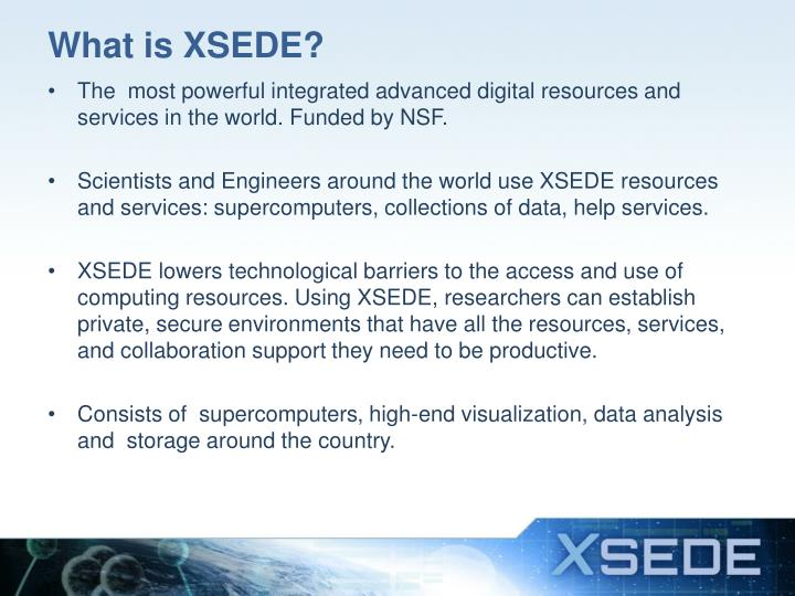 What is XSEDE?