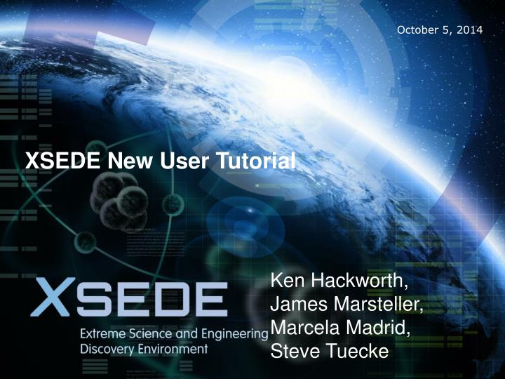 Xsede new user tutorial