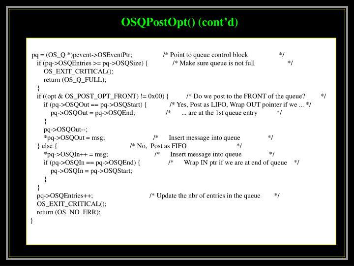 OSQPostOpt() (cont'd)