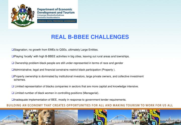 REAL B-BBEE CHALLENGES