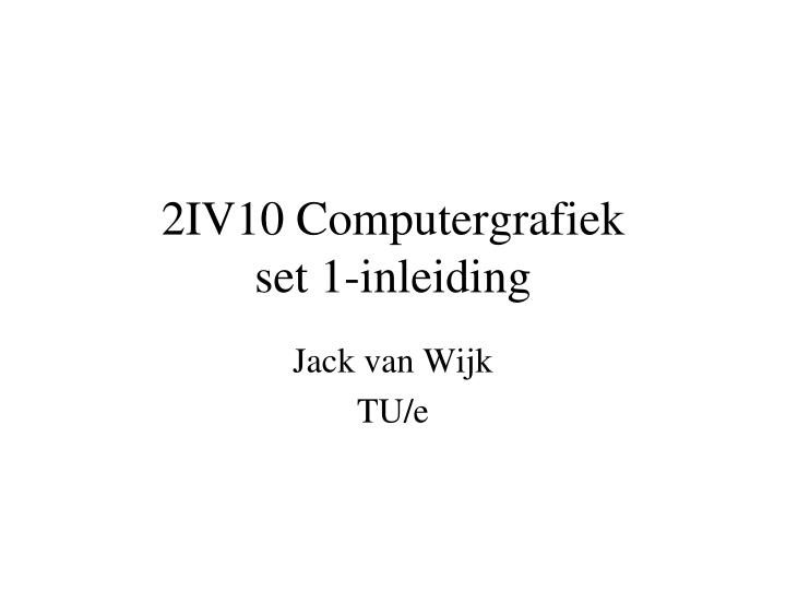 2IV10 Computergrafiek