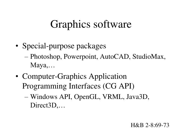 Graphics software