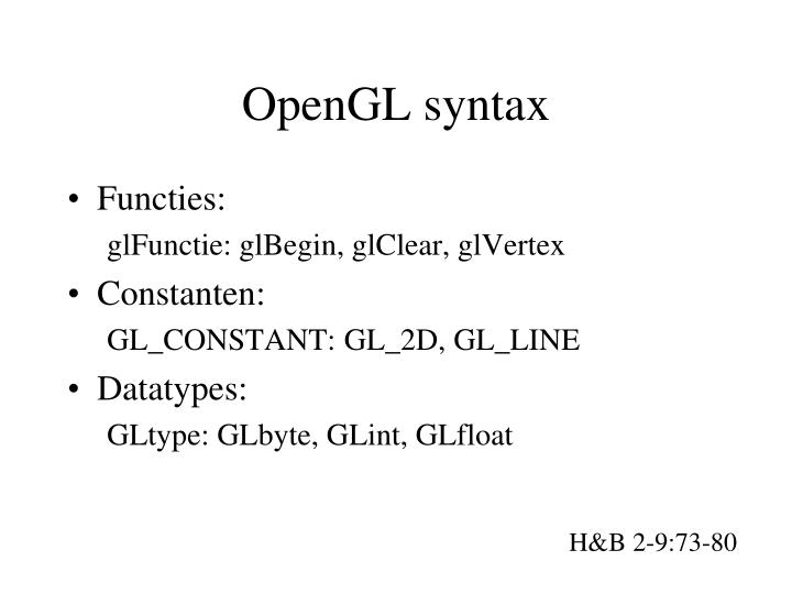 OpenGL syntax