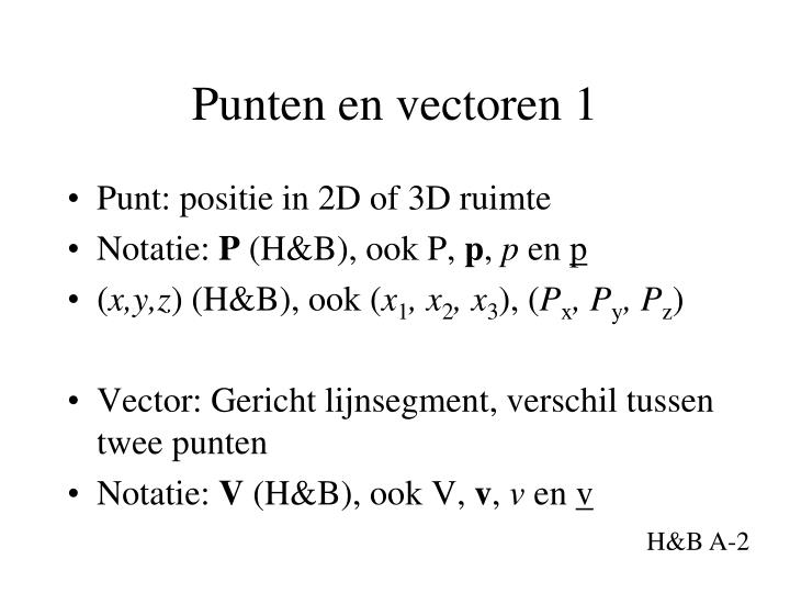 Punten en vectoren 1