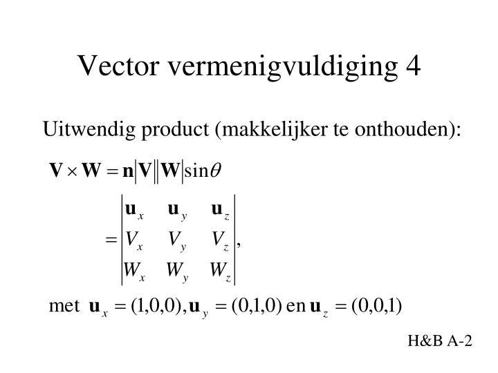 Vector vermenigvuldiging 4