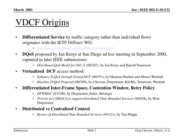 VDCF Origins