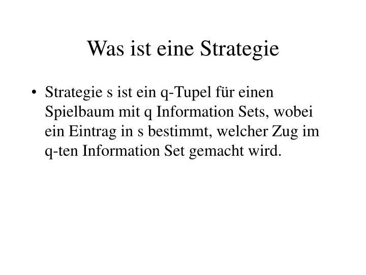 Was ist eine Strategie