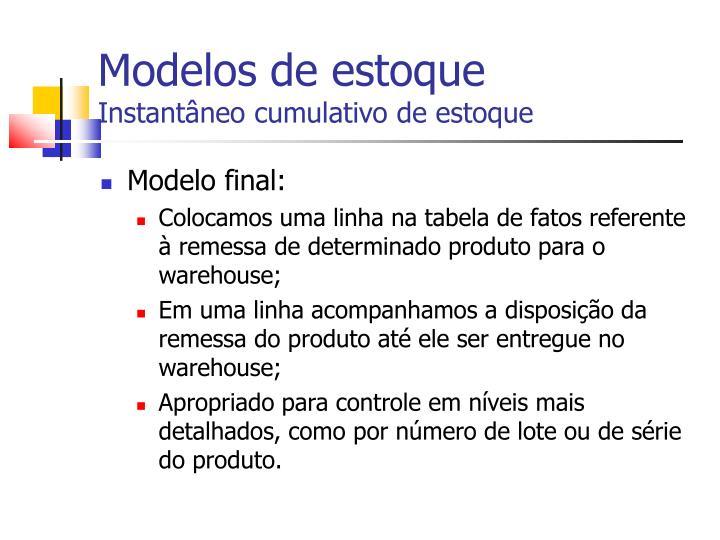 Modelos de estoque