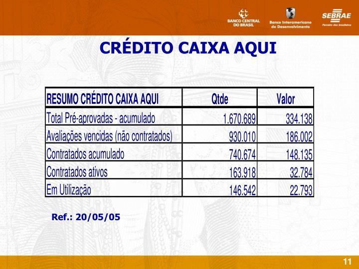 CRÉDITO CAIXA AQUI
