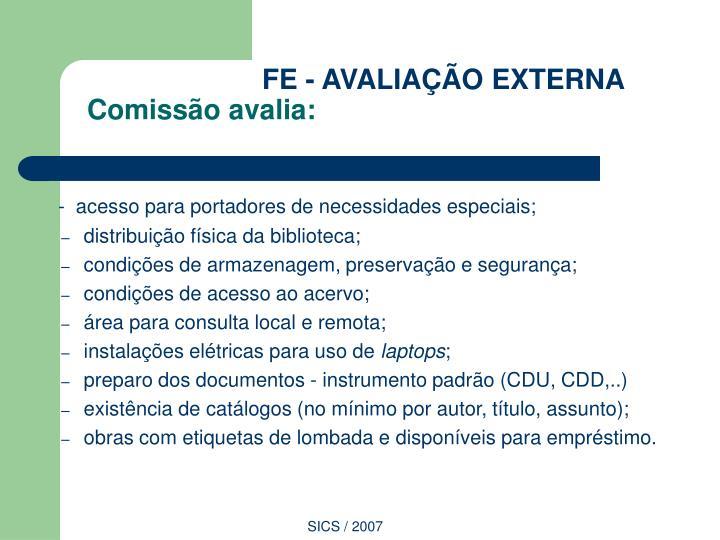 FE - AVALIAÇÃO EXTERNA