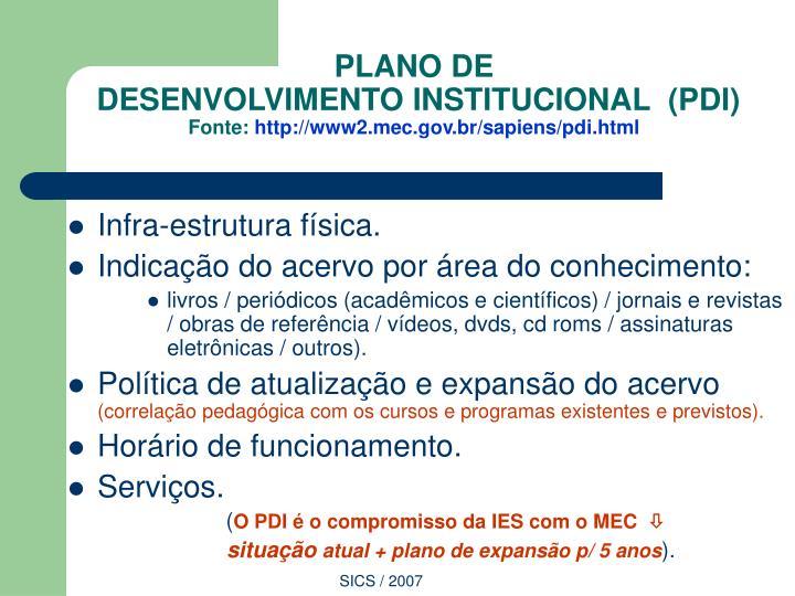PLANO DE