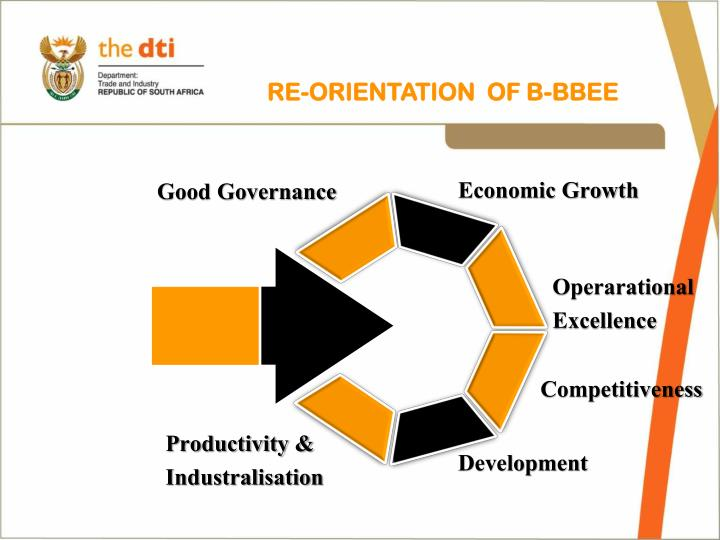 RE-ORIENTATION  OF B-BBEE