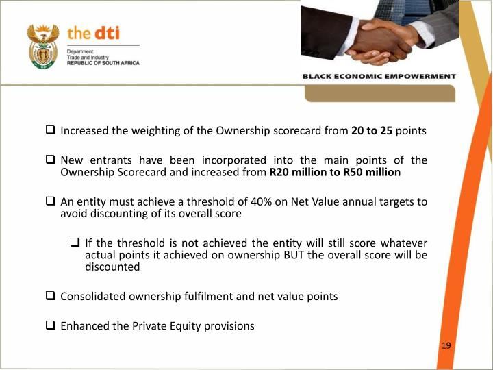 Increased the weighting of the Ownership scorecard from