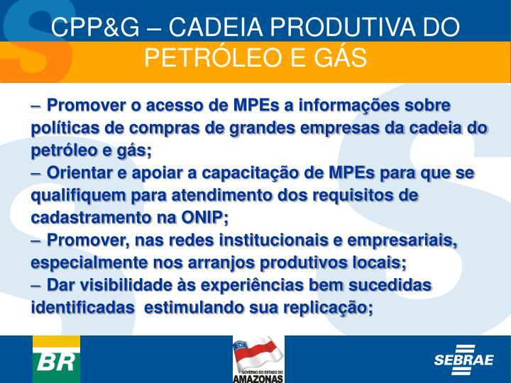 Promover o acesso de MPEs a informações sobre
