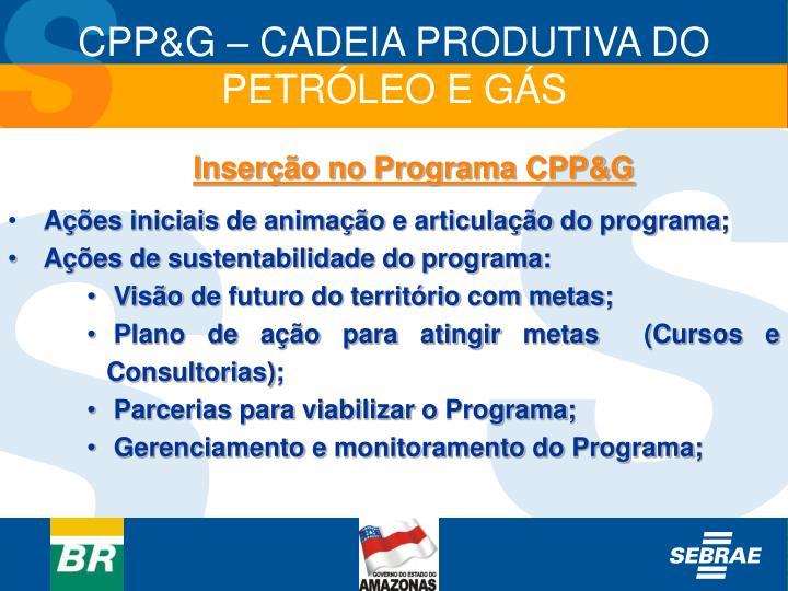 Inserção no Programa CPP&G