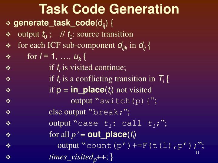 Task Code Generation