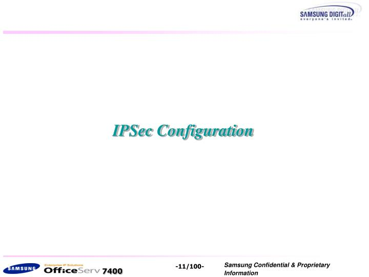 IPSec Configuration