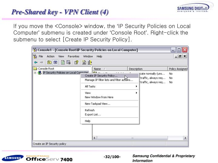 Pre-Shared key - VPN Client (4)