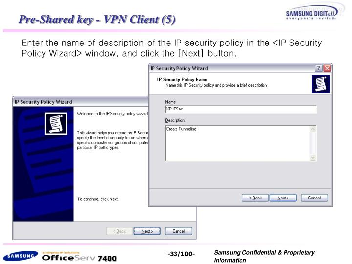 Pre-Shared key - VPN Client (5)