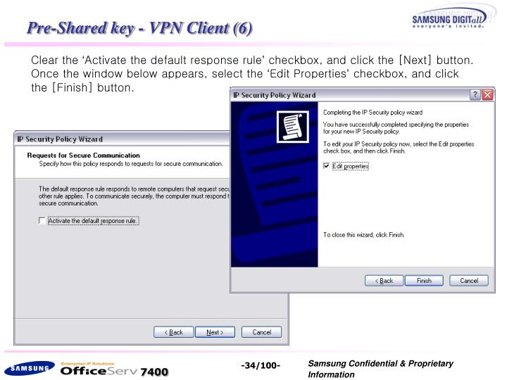 Pre-Shared key - VPN Client (6)