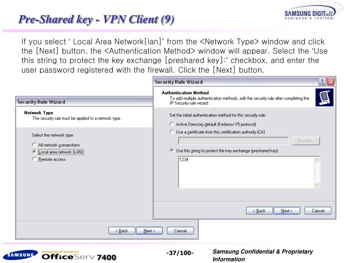Pre-Shared key - VPN Client (9)