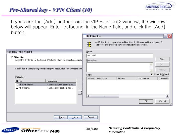 Pre-Shared key - VPN Client (10)