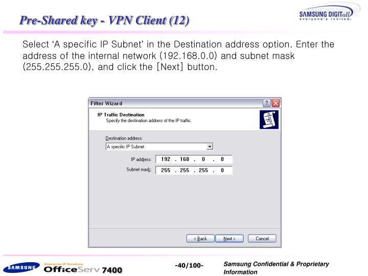 Pre-Shared key - VPN Client (12)