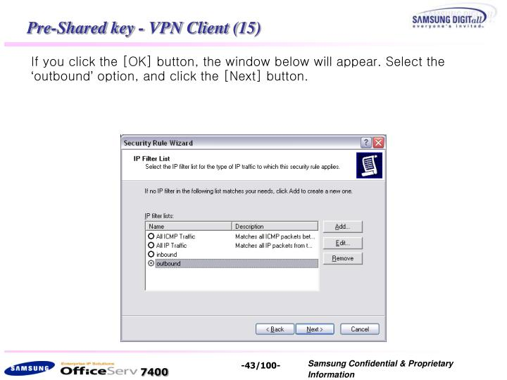 Pre-Shared key - VPN Client (15)