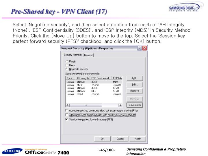 Pre-Shared key - VPN Client (17)